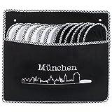 ONVAYA ABS Gästepantoffel Skyline München | Hausschuhe | 6er Set | Antirutsch | Gästeschuhe | aus Filz