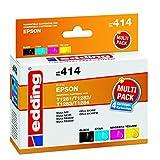 edding 18-414 Druckerpatrone EDD-414, CMYK, Ersetzt: Epson T1281/T1282/T1283/T1284