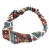 TININNA Vintage Boemia floreale elastica fascia per capelli capa  dell involucro Cerchietto Yoga Wrap testa Turbante Foulard Copricapo  Bandane  4   59b159c8dc91