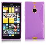 Cadorabo Nokia Lumia 1520 Silikonhülle in LILA S-Line