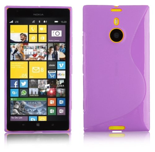 Preisvergleich Produktbild Cadorabo Hülle für Nokia Lumia 1520 - Hülle in FLIEDER VIOLETT – Handyhülle aus flexiblem TPU Silikon im S-Line Design - Silikonhülle Schutzhülle Soft Back Cover Case Bumper