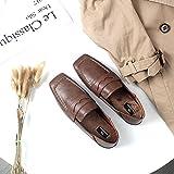 Angrousobiu Ein Quadrat flach Base plus samt einzelne Schuhe Frauen Frühling gemütliche retro College minimalistischen, 35, 豆 Farbe
