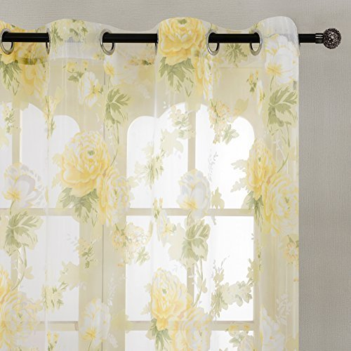 Patterned Voile Curtains Amazon Co Uk