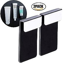 Zahnpastahalter, Halter für Zahnpasta Wandhalterung Stark Selbstklebend Hohe Qualität Edelstahl Badezimmer Zubehör, 2 in 1 ( 2 Stück)
