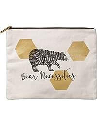 Neceser con diseño de oso grande; bolsita de lona de la colección Folklore
