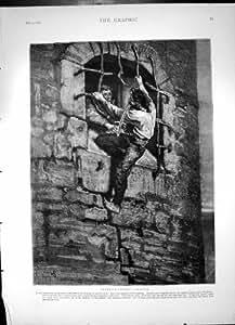 La copie antique de quatre-vingt-treize masques d'homme de mur d'évasion de Radoub a saisi les pistolets 1874