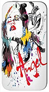 Timpax protective Armor Hard Bumper Back Case Cover. Multicolor printed on 3 Dimensional case with latest & finest graphic design art. Compatible with HTC M8 Design No : TDZ-28743