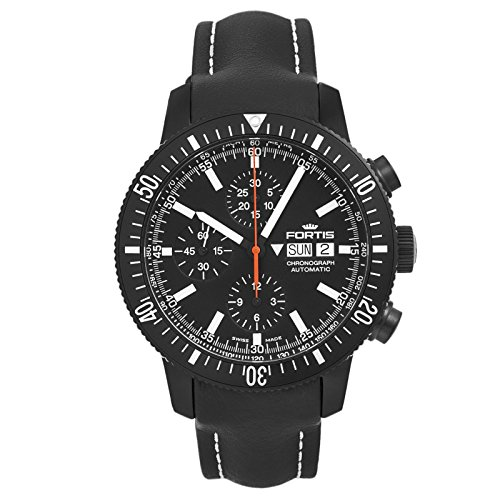 Fortis Official Cosmonauts Monolith Chronograph Men's Swiss Watch 638.18.31 L01
