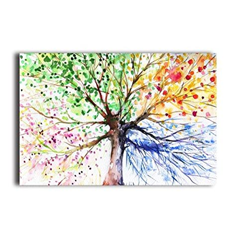 Personalized Four Season Tree Drawing 20x30 Inches Poster