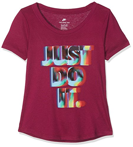 Nike G NSW Tee SS Rainbow JDI Shirt, Mädchen S Lila (True Berry)