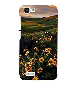printtech Nature View Flower Mountain Back Case Cover for VIVO Y27L