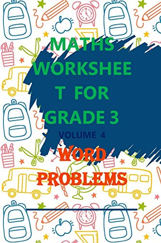 Maths Worksheet for Grade 3 Volume 4 Word Problems