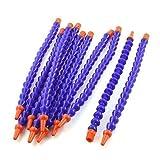 Lot de 10 embout rond 1/4PT TUYAU ET DURITE Flexible de liquide de refroidissement et l'huile Bleu/Orange