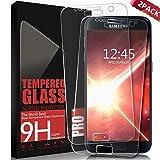 AONSEN Samsung Galaxy S7 Panzerglas Schutzfolie, [2 Stück] Galaxy S7 Displayschutzfolie für Panzerfolie, Gehärtetem Glass 9H Härtegrad, Anti-Kratzen, Anti-Öl Anti-Bläschen, Full Coverage Anti-Kratzen - Transparent