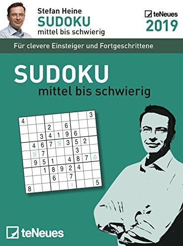 Stefan Heine: Sudoku mittel bis schwierig 2019 - Tagesabreißkalender, Rätselkalender, Wissen und Logik  -  11,8 x 15,9 cm