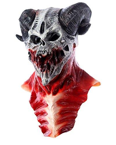 valsmaske Maske aus Latex Kostüm Halloween Dämon (Dämon Halloween Kostüme)