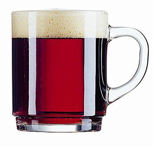 24 Glühweinbecher Glühweingläser mit Henkel gehärtetes Glas geeicht 0,2 0 2 l Teegläser