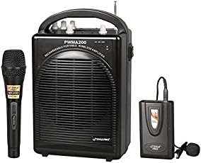 PylePro PWMA200 Compact & Wireless Microphone PA Speaker System Handheld Mic