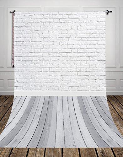 NIVIUS PHOTO 150*300CM Grau holzboden Studio foto hintergrund Kulisse aus dünnem vinyl weiß ziegel für Neugeborenen Fotografie d-9713