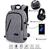 Anti Diebstahl Laptop Rucksack mit USB and Headphone 15.6