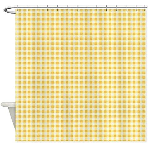 CafePress–Tenda da doccia classico plaid a quadretti giallo tenda doccia,