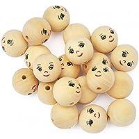 Playbox 22 mm palline di legno con Faccia (20 pezzi)