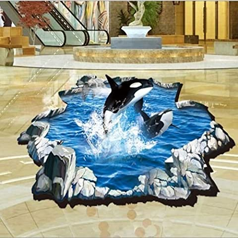 WANGSCANIS® Home Decor Art Vinyl Whale Mural Decals Removable Wall Stickers