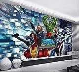 Comic Wallpaper Game Room Bar Internet Cafe Wall Decoration Fond D'écran 3d Cartoon Cartoon Avengers Fresco Largeur 400cm - Hauteur280cm un