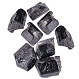 Akozon Natural Black Kristall Turmalin Rough Rock Mineral Heilstein