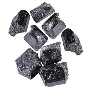 Natürlicher Quarzkristall Erstklassiger Schwarzer Turmalin-Stein Rohe Raue Felsen und Steine, Kristalle für Cabbing, Stolpern, Polnisch, Draht-Verpackung, Wicca und Reiki-Heilung