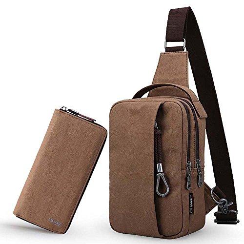 ZHANGRONG- Seni degli uomini Sacchetto del messaggero Zaino casuale del sacchetto della tela di canapa tasche Borse a tracolla (Opzionale a colori) ( Colore : 2 ) 6