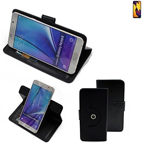 K-S-Trade® Case Schutz Hülle für Huawei P20 Lite Dual-SIM Handyhülle Flipcase Smartphone Cover Handy Schutz Tasche Bookstyle Walletcase schwarz (1x)
