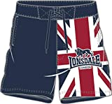 Lonsdale London England Tarmac Badehose Beach Short wtih Print on Leg, vlecro Closer Under Fly Front Union Jack Gr. XL