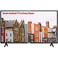 TCL 32ES568 32 Inch HD Smart Android TV, HDR, Micro Dimming, Netflix, YouTube, DVB Compatible, Dolby Audio, Bluetooth, Wi-Fi, 2 x HDMI, 1 x USB, Narrow Design for Kitchen, Bedroom-Black