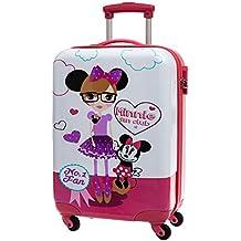 Disney Minnie Fan Maleta de Cabina Rígida, Color Blanco, 35 Litros