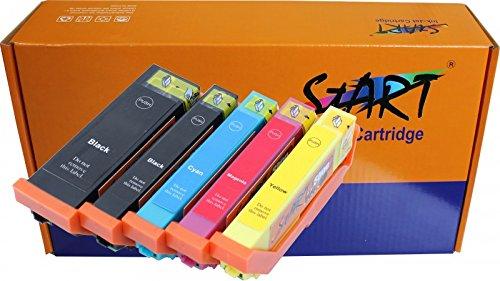 5 Cartouches d'encre compatibles avec Puce remplace Epson 33XL, T3351, T3361, T3362, T3363, T3364, T3357