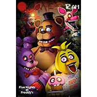 Póster Five Night's at Freddy's - Let's Eat!!! [Personajes] (61cm x 91,5cm) + 1 Póster con motivo de paraiso playero