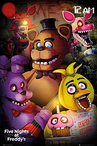 Close Up Póster Five Night's at Freddy'S - Let's