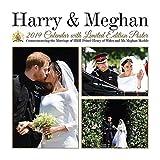 Kalender 2019 Wandkalender Hochzeit Prince Harry und Meghan Markle 30 x 30 cm inklusive Poster