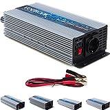 VOLTRONIC modifizierter Sinus Spannungswandler 24V auf 230V, Stromwandler in 4 Varianten: 600 - 2000 Watt, Wechselrichter mit e8 Norm