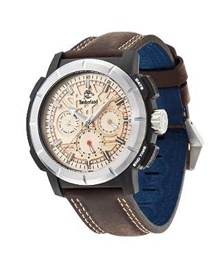 Timberland 13325JPBS/14 - Reloj para hombres, correa de cuero color marrón