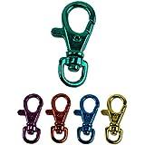 "6 Bright Colors Aluminum Lobster Claw Snap Hook Set 1-1/2"""