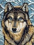 Reeves Malen nach Zahlen 8+Jahre, Tiere 30x23cm, 7 Farben, Motiv - Wolf