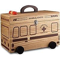 Wangmy Startseite Holz Medizin Box Medizin Aufbewahrungsbox Familie Erste-Hilfe-Box aus Holz Große Kapazität Aufbewahrungsbox... preisvergleich bei billige-tabletten.eu