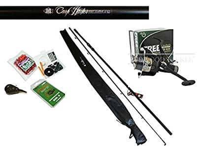 Hunter Carp Fishing Combo 2.75tc Rod & Bait Runner Reel + Line Bait,Hooks,Kit from REDWOOD TACKLE