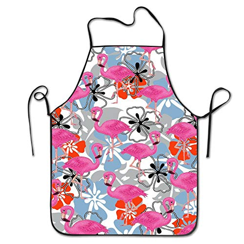 HTETRERW Plenty of Pink Flamingo Cooking Aprons Funny Adult Aprons Aprons for Girls Aprons Bulk Aprons for Women (Girls 50er Jahre Pink Lady Kostüm)