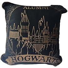 Cojín de Hogwarts de Harry Potter, 40 cm x 40 cm, Black Gold,
