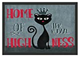 WohnDirect ROYAL CAT Fussmatte Innen und Aussen Fussmatten Rutschfest waschbar Schmutzfangmatte Fußabtreter Fussabstreifer 50x70cm
