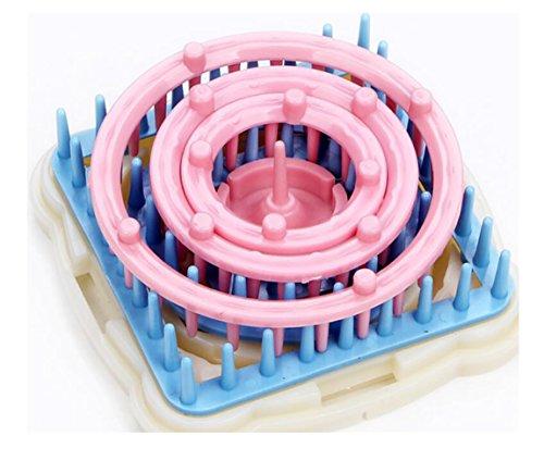 DIY Daisy Muster Maker Blume Stricken Webstuhl Wolle Yarm Nadel Häkeln Handwerk Strickrahmen (Spool Knitting Machine)