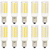 10er Pack E12 5W LED Glühbirne Birnen, mit 44 SMD 2835,Warmweiß 3000K,AC220-240V 360 Abstrahlwinkel